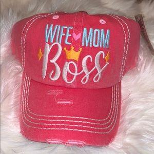 Accessories - WIFE ❤️MOM 🌸BOSS CAP!
